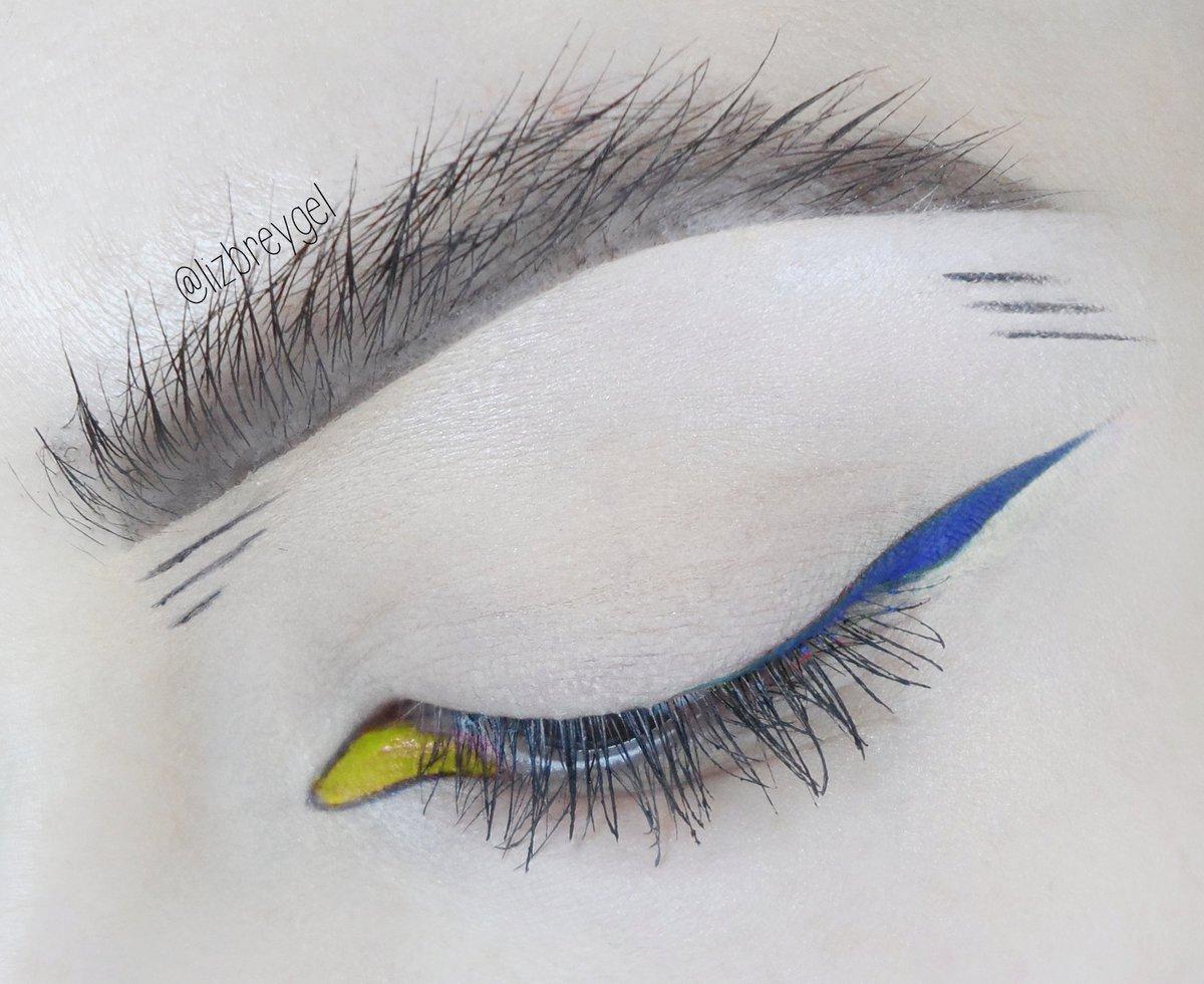 close up of creative, editorial makeup look by Liz Breygel makeup blogger.
