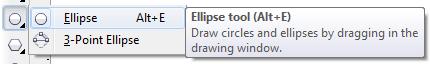 Mengenal bagian CorelDRAW - Ellipse Tool