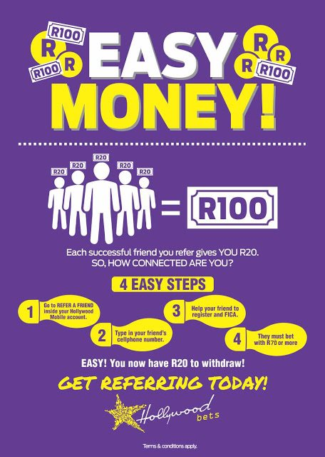 Refer a Friend - Hollywoodbets - Step-by-Step