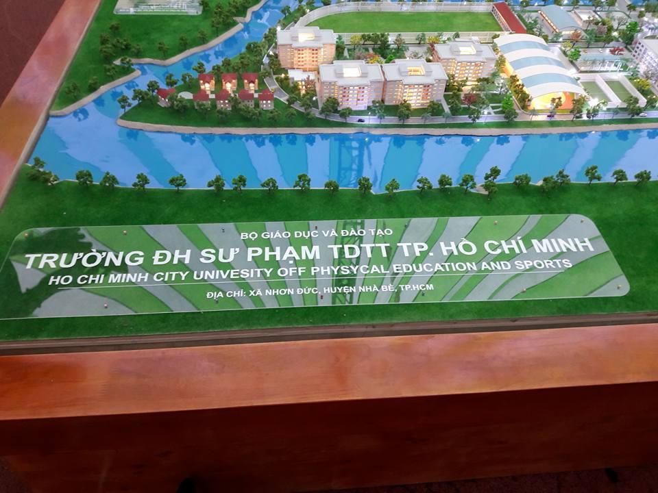 Sa bàn trường ĐH Sư phạm Thể dục Thể thao TP.HCM Nhơn Đức Nhà Bè