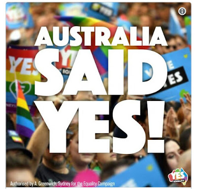 Celebrations as Australia votes to legalise same sex marriage