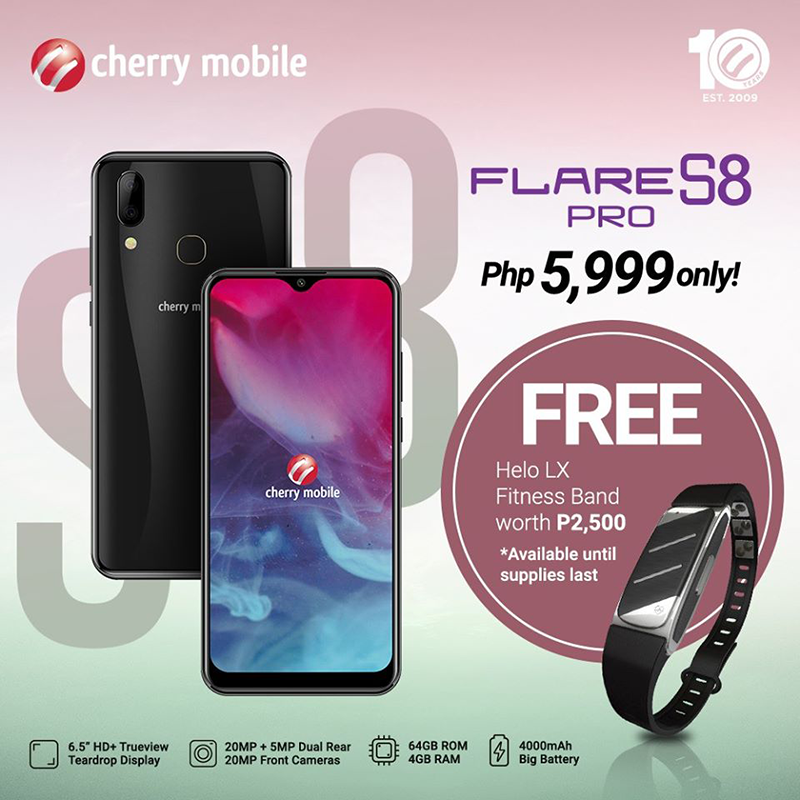 Cherry Mobile reveals Flare S8 Pro freebie, a fitness band worth PHP 2.5K