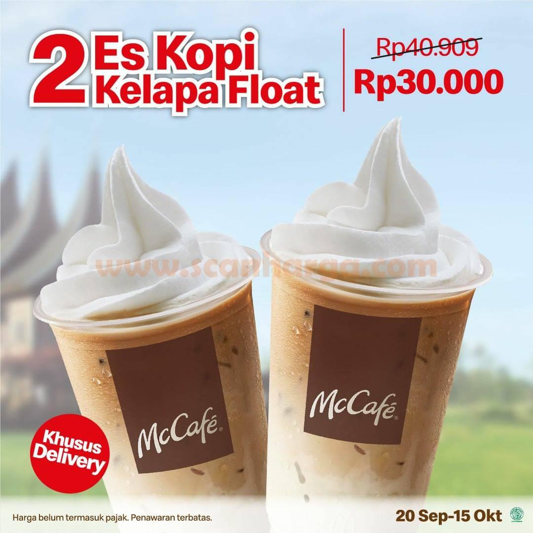 Promo Mconalds Beli 2 Es Kopi Kelapa Float harga Rp. 30.000