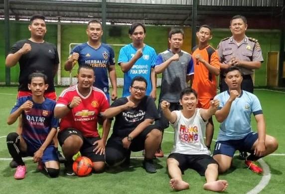 Melalui Futsal, Bidhumas Polda Banten jalin kemitraan dengan forum wartawan