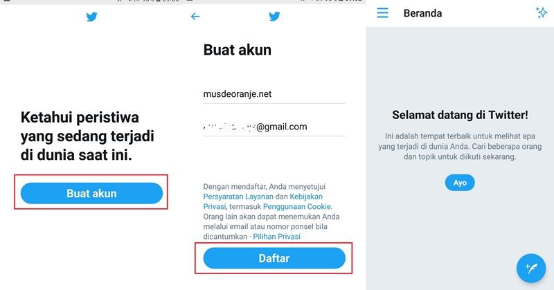 Cara Membuat Akun Twitter Baru Di Hp Musdeoranje Net