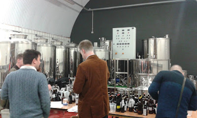Table full of homebrew competition entries
