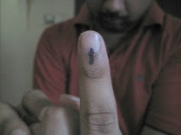 Voting in India- Black Mark on Finger
