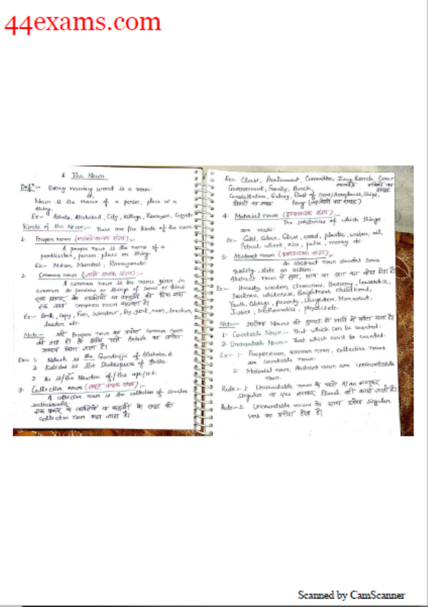 English Grammar Handwritten Notes : For All Competitive Exam