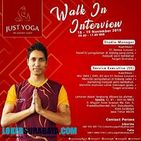 Walk In Interview di Just Yoga (The Premium Studio) Surabaya Nopember 2019