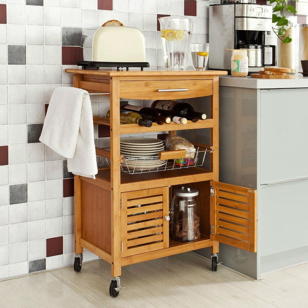 C mo elegir muebles peque os de cocina revista tendenciadeco for Mesa auxiliar cocina con ruedas