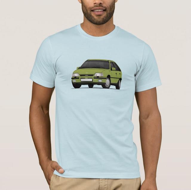 Green Opel Kadett E GSi 16V - 80's classic car T-shirt