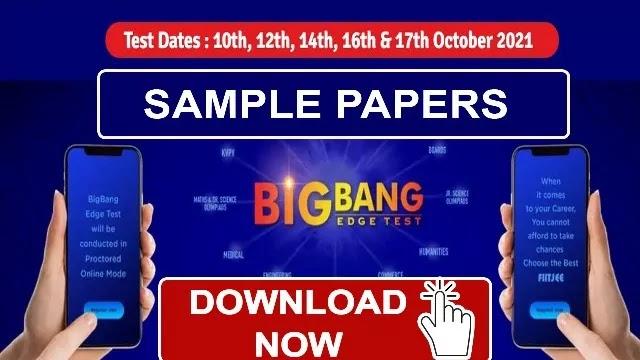 FIITJEE Sample Paper for FTRE - BIG BANG