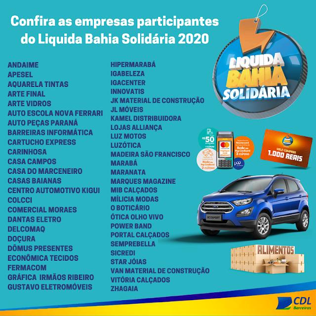 CONFIRA AS LOJAS PARTICIPANTES DA LIQUIDA BAHIA SOLIDÁRIA 2020