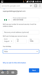 how can I create a gmail account