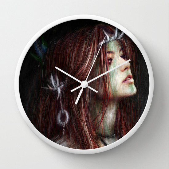 Clock from society6 by Justin Gedak