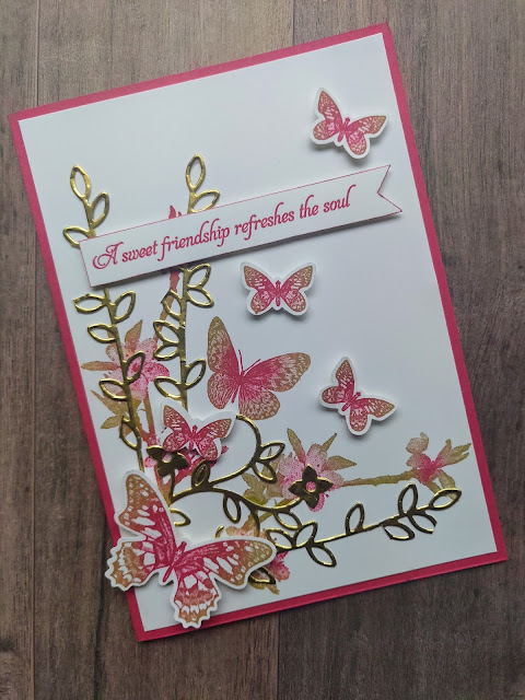 Melon Mambo Card Butterfly Wishes Stampin' Up Card Friend