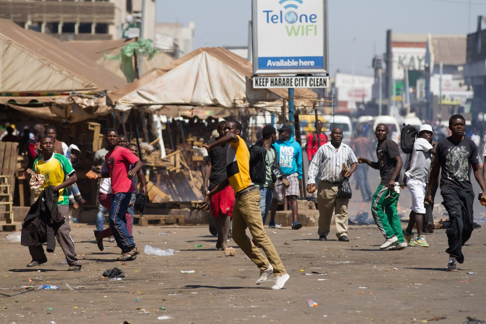 Chaos, Looting & Teargas In Zimbabwe. What We Know