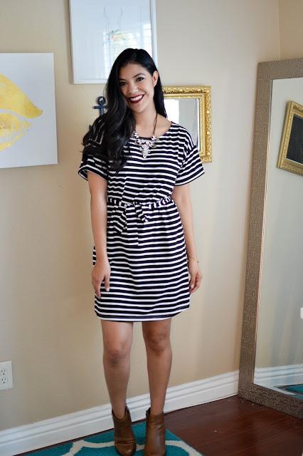 Gozon Stripe Mini Dress