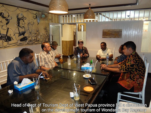 Meeting on the development of tourism in Wondama bay regency