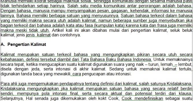 Indahnya Bahasa Indonesiaku: Jenis-Jenis Kalimat dan Contohnya