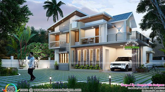 Contemporary mix style 4 BHK house 2400 sq.ft