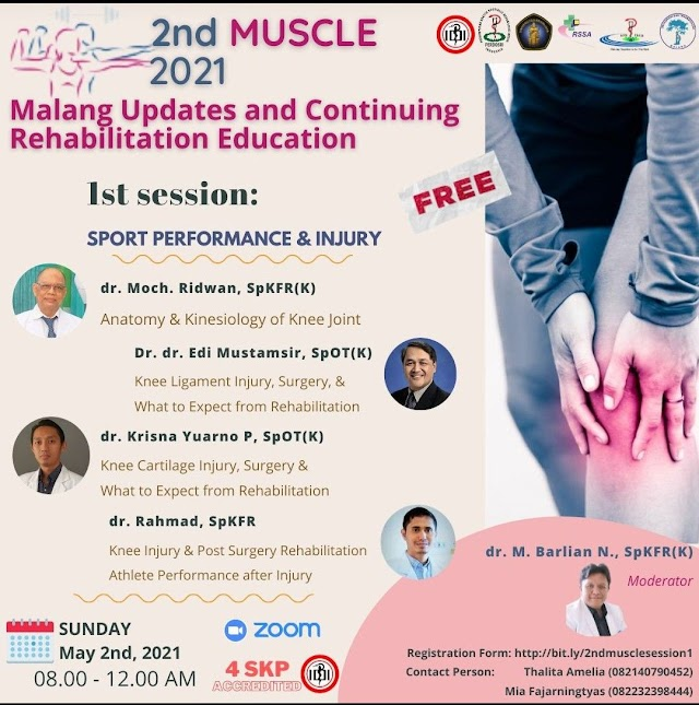 """(FREE 4 SKP IDI) 2nd MUSCLE 2021 """"Malang Updates and Continuing Rehabilitation Education"""""""
