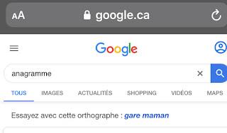 L'Oeuf de Pâques de Google : Anagramme