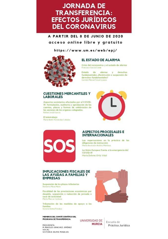"""Jornada de transferencia: """"efectos jurídicos del coronavirus"""""""