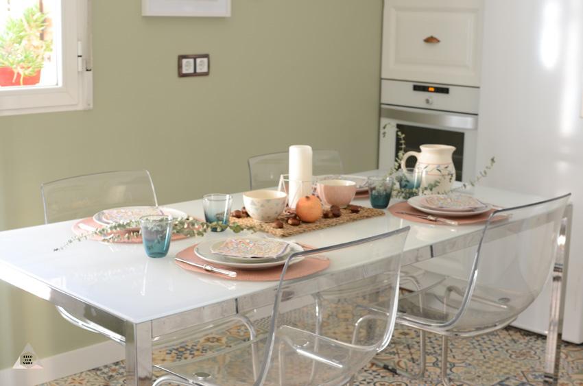decoración mesa de otoño