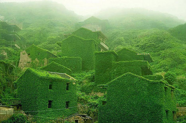 A fishing village on Shengshan Island, China