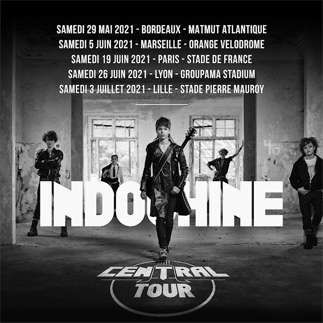 El Central Tour en 5 estadios de Francia por los 40 años de Indochine