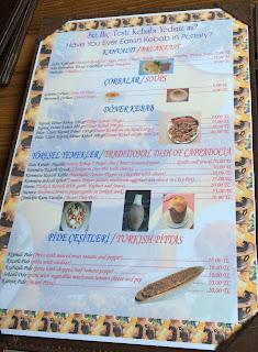 zelve restaurant avanos nevsehir kapadokya menu ne yenir