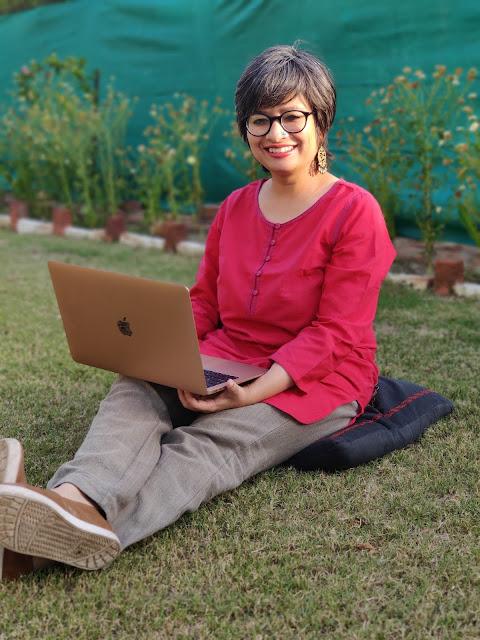 The work-at-home writer Chandana Banerjee