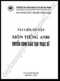 Tài Liệu Ôn Tập Môn Tiếng Anh Tuyển Sinh Đào Tạo Thạc Sĩ - Nhiều Tác Giả
