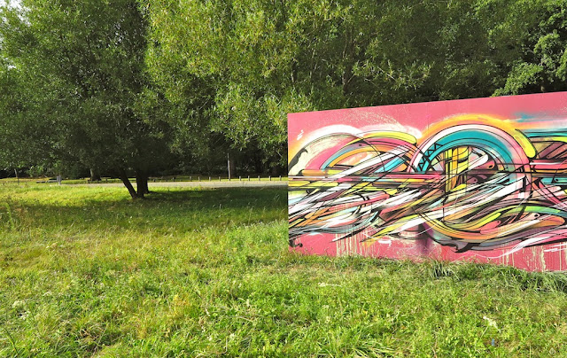 """""""Abstraction"""" By French Street Artist Hopare In Limours, France. 3"""