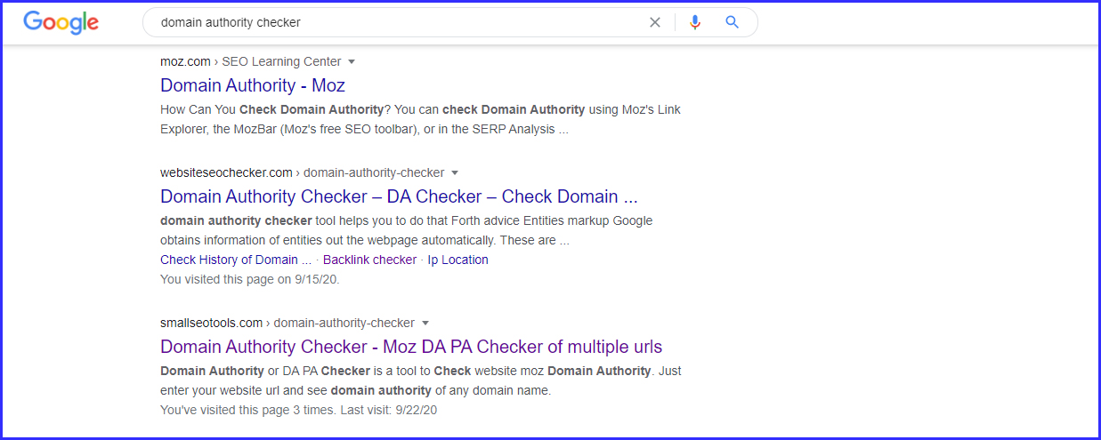 Domain authority checker and page authority checker