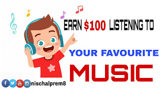 Earn online Money Listening to your favourite Music