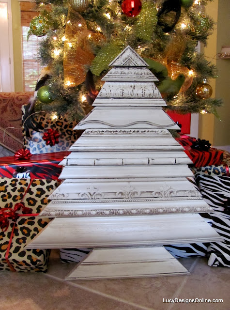picture frame molding christmas trees