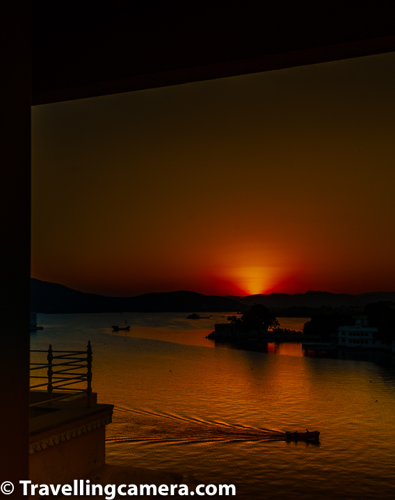 Some of the other popular places to witness sunset in Udaipur are -  1. Monsoon Palace 2. Karni Mata Temple 3. Lake Pichola Boat Ride 4. Ambrai Ghat, Lal Ghat and other ghats on the side where Lal ghat is situated.  5. Rooftop Restaurants & Bars around Lake Pichola 6. Neemach Mata Temple 7. Fateh Sagar Lake