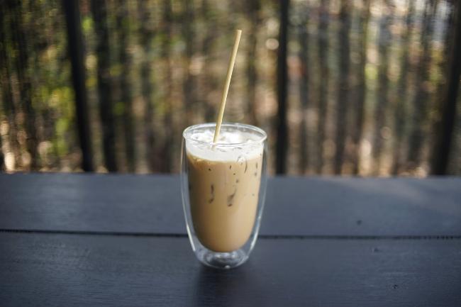 Copo especial servido café gelado
