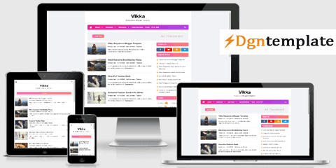 Vikka Blogger Template | SEO Optimized Theme