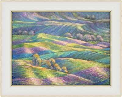 Картины Ивана Крутоярова. Французский меланж. Современный импрессионизм, пейзаж, лаванда, солнце, цветы, счастье, Франция, Прованс