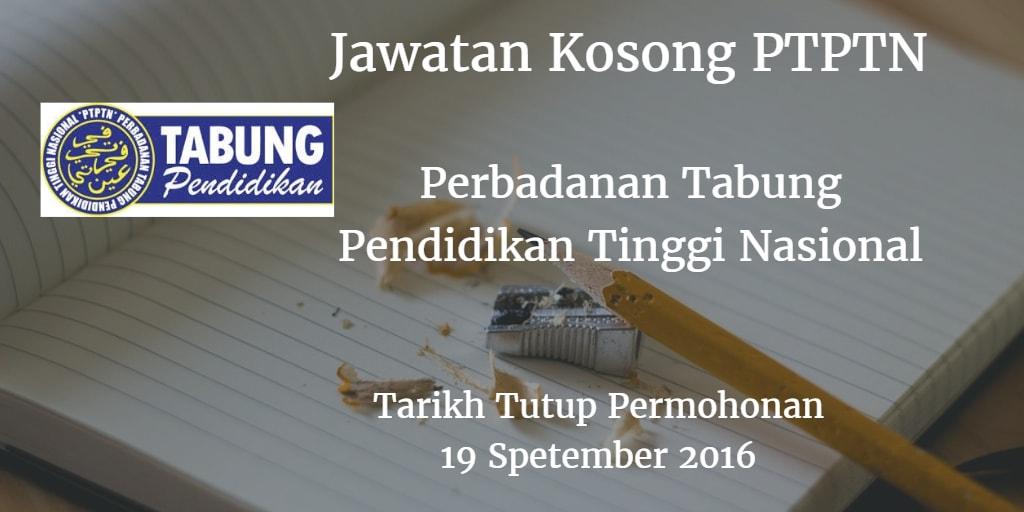 Jawatan Kosong PTPTN 19 September 2016