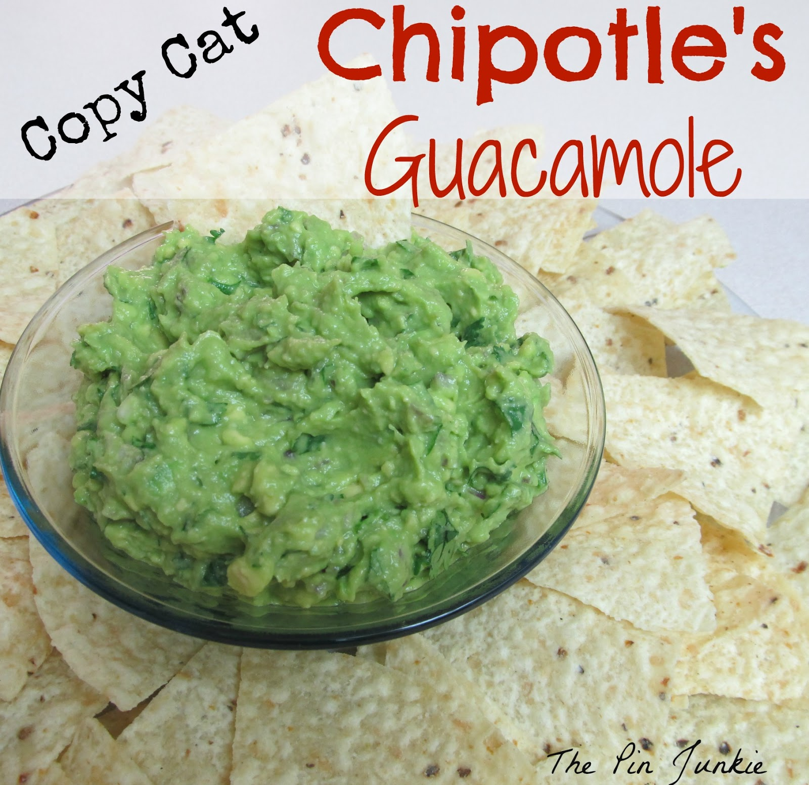 copy cat chipotles guacamole