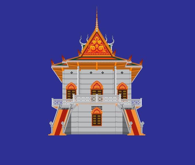 Cambodia Pagoda (Khmer Pagoda) Free Vector