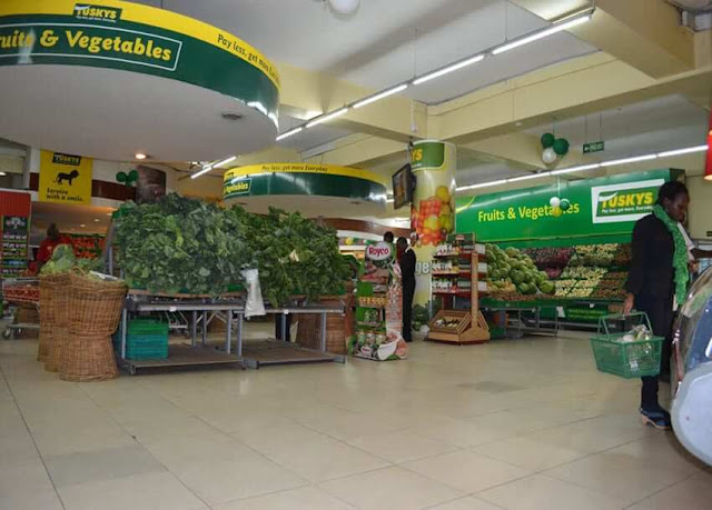 Tuskys supermarket vegetable section.
