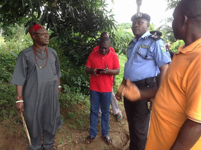 Commissioner of Police visits community attacked by herdsmen in Enugu .