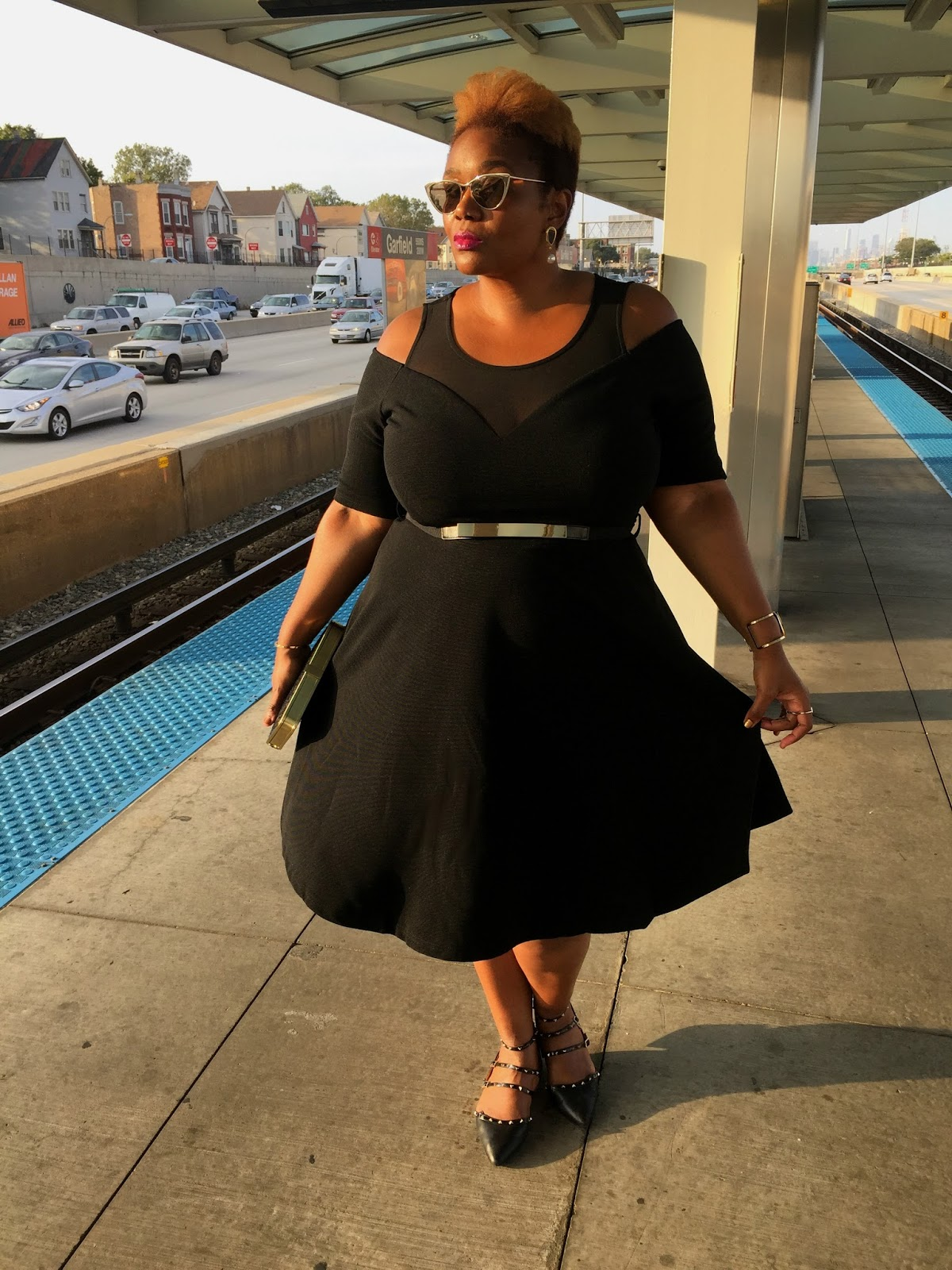 City Chic Cold Shoulder Dress Chicago Gwynnie Bee Inspired By You Tour