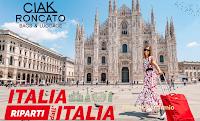 """Logo Ciak Roncato """" Torniamo a viaggiare"""" : ricevi come regalo certo 1 Travel Card da 280 euro"""
