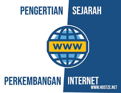 Pengertian, Singkatan, Sejarah dan Perkembangan dari Internet Lengkap - hostze.net